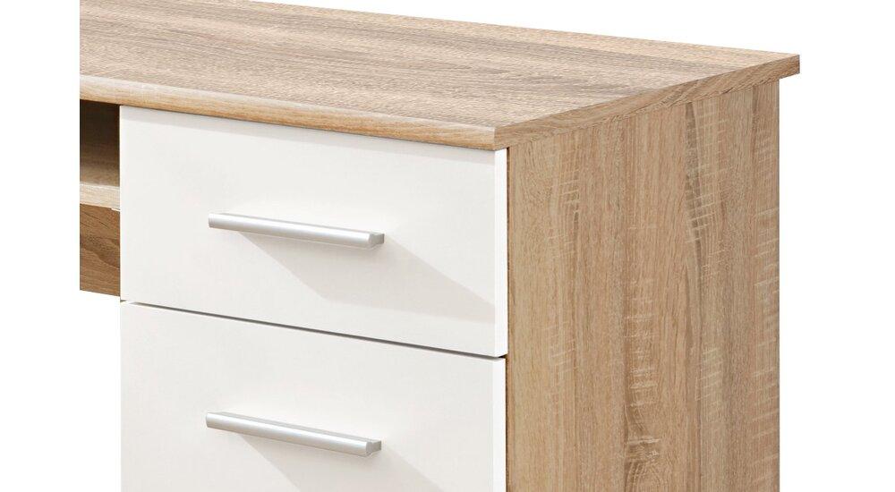 Stylefy Dino Schreibtisch Sonoma Eiche | Weiß Matt - Möbel ...